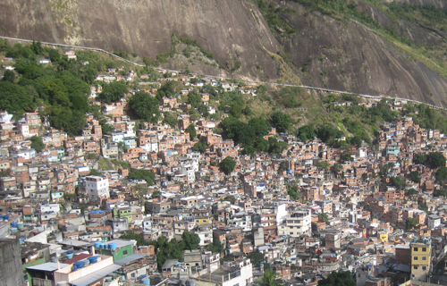 A view of the favela